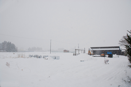 白河 冬 雪
